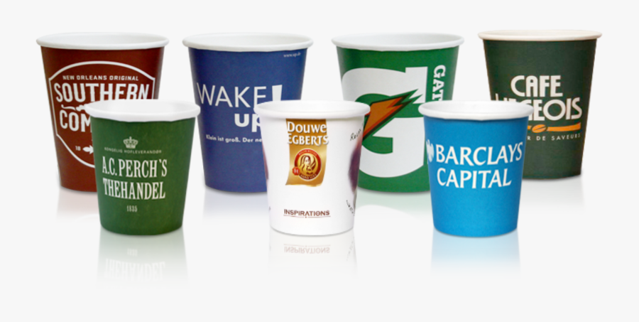 Branded Paper Espresso Cups, Transparent Clipart