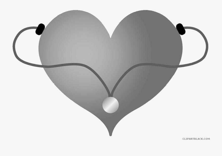 Image Free Library Heart Stethoscope Clipart - Clip Art Stethoscope Transparent Background Nursing, Transparent Clipart
