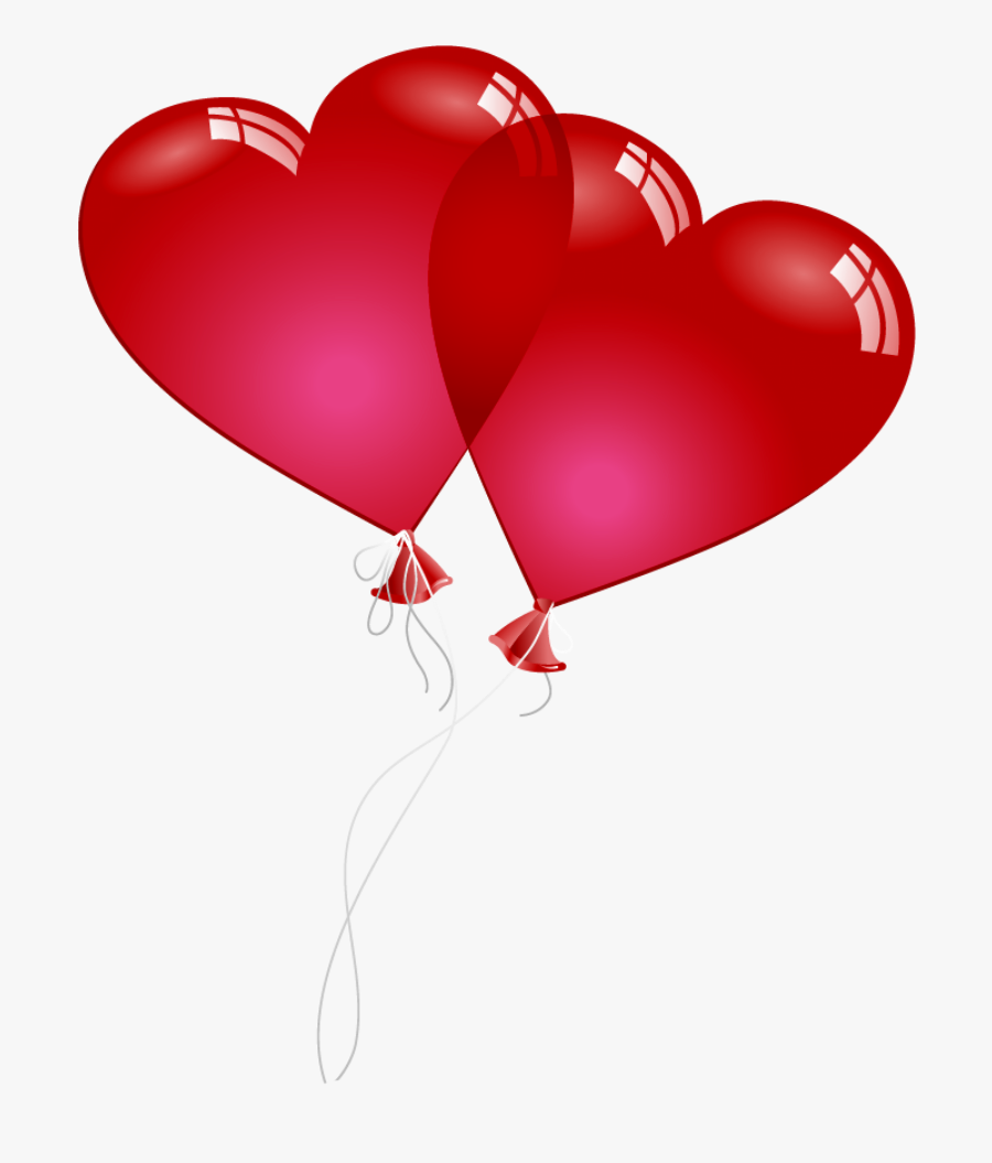 Valentine Heart Png - Clip Art Red Heart Balloons, Transparent Clipart