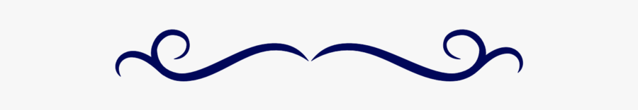 Collection Of Border - Fancy Navy Blue Line, Transparent Clipart