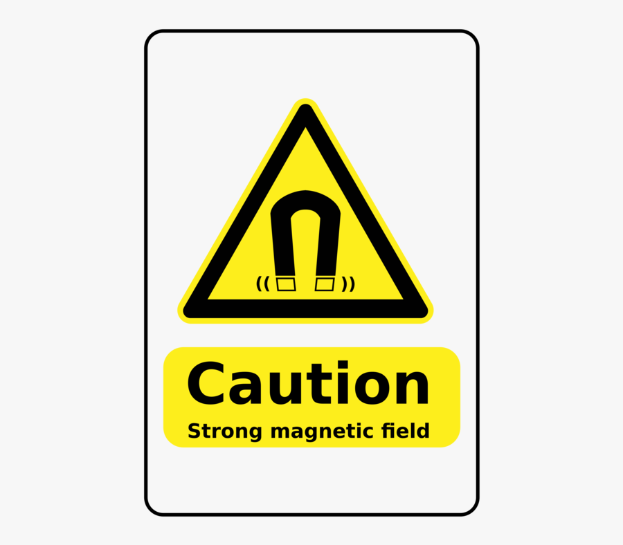 Triangle,angle,area - Magnetic Field Warning Sign Png, Transparent Clipart