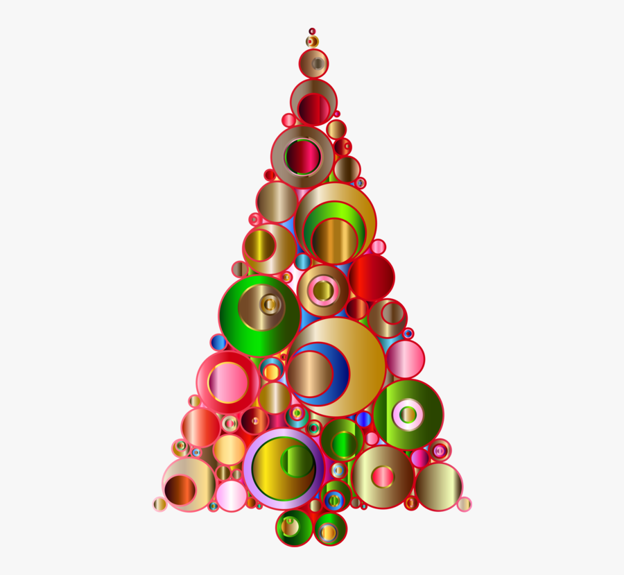 Christmas Decoration - Christmas Tree Abstract Art, Transparent Clipart