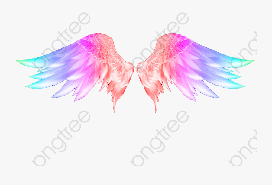 Wings Png Angel - Neon Angel Wings Png, Transparent Clipart