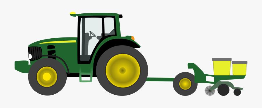 Green Tractor Clip Art John Deere Free Cliparts - Tractor, Transparent Clipart