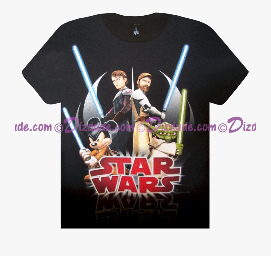 Clip Art Anakin Skywalker Shirts - Disney Star Wars Shirts Jedi Mickey, Transparent Clipart