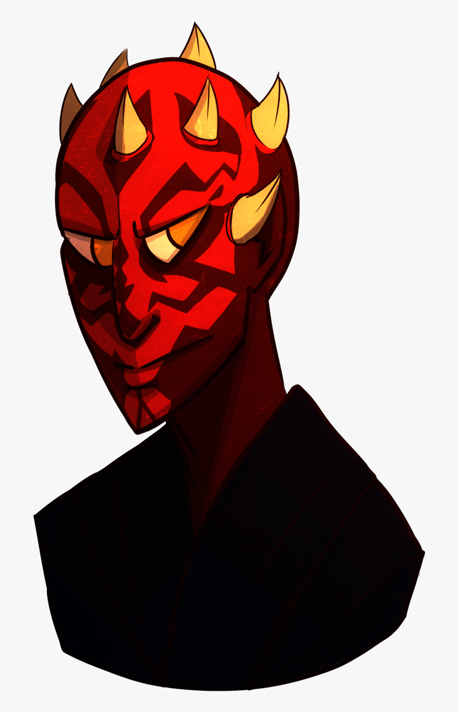 Started Darth Maul On May The Fourth, Finished On May - Illustration, Transparent Clipart