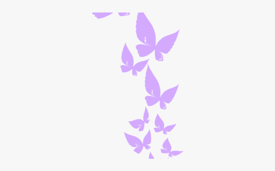 Rainbow Butterfly Cliparts - Butterfly Border Clipart Png, Transparent Clipart