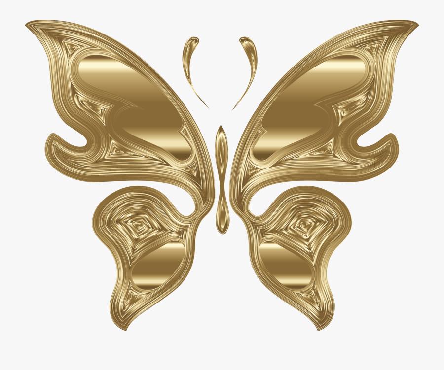 Transparent Brooch Clipart - Mariposa Dorada En Png, Transparent Clipart