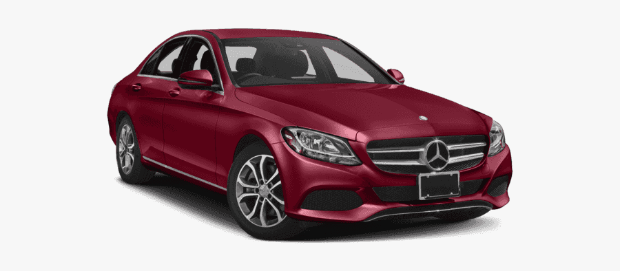 Mercedes Clipart Sedan - Mercedes C Class 2018 Red, Transparent Clipart