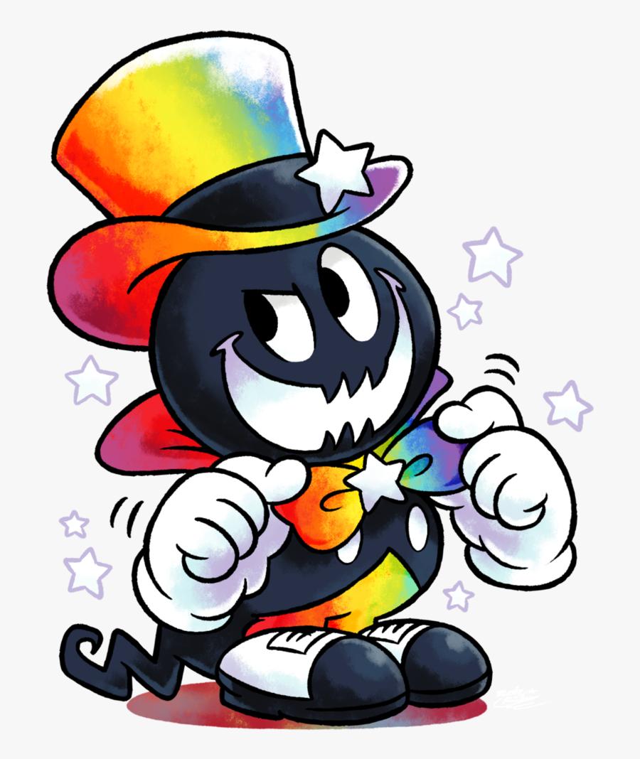 Clipart Freeuse Stock The Rainbow Maestro Gets - Game Mario E Luigi Paper Jam, Transparent Clipart