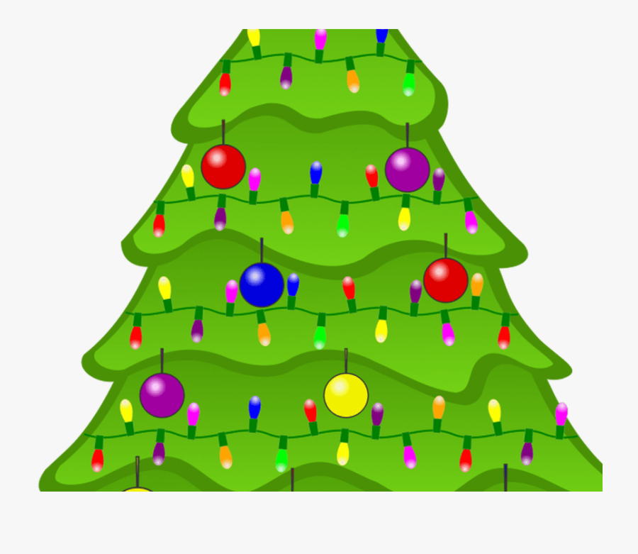 Decorate Clipart Toy - Decorated Animated Christmas Tree Clipart, Transparent Clipart