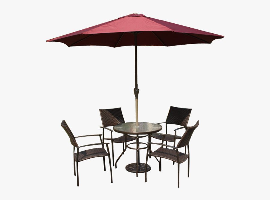 Patio Furniture - Patio Chairs And Umbrella Clipart - Free Transparent PNG  Clipart Images Download
