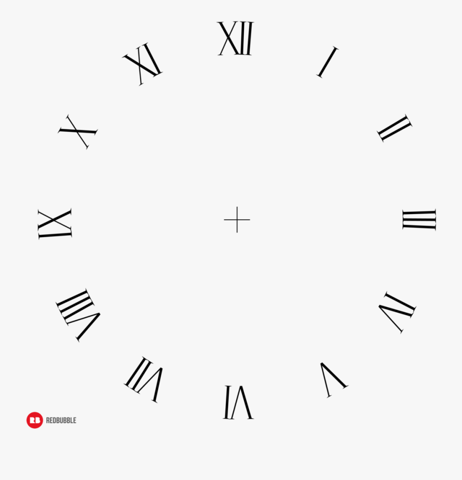 Digital Clock Numbers Png - Roman Numerals Transparent Background, Transparent Clipart