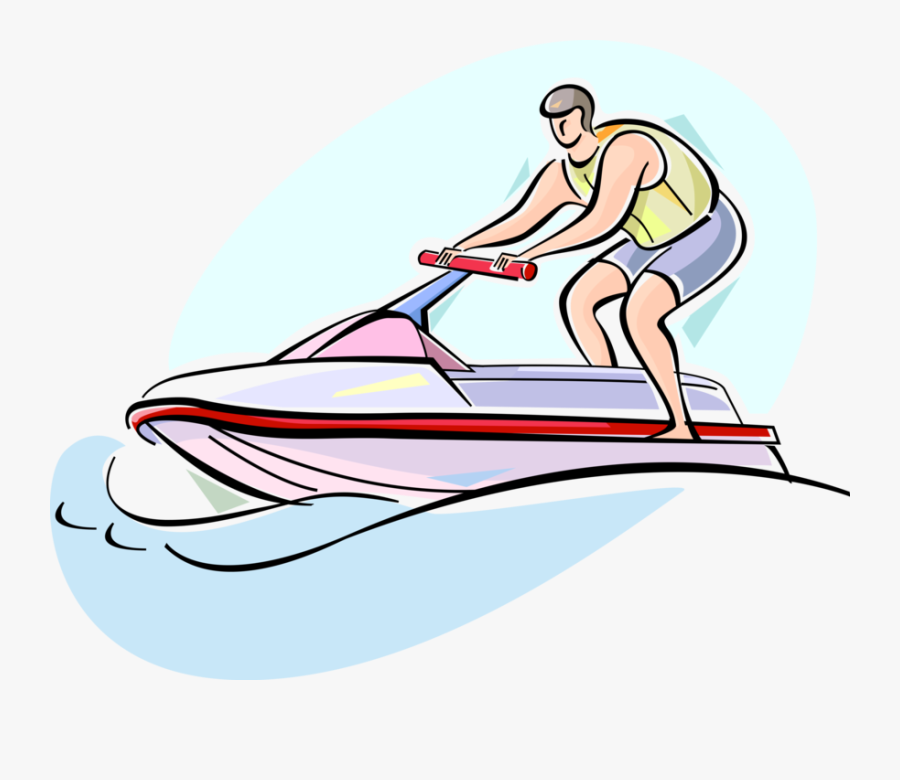 Vector Illustration Of Personal Watercraft Water Sports, Transparent Clipart