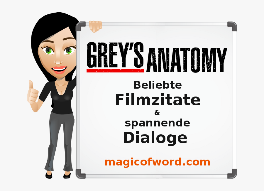 "Filmzitate Aus Grey""s Anatomy - Grey's Anatomy, Transparent Clipart"