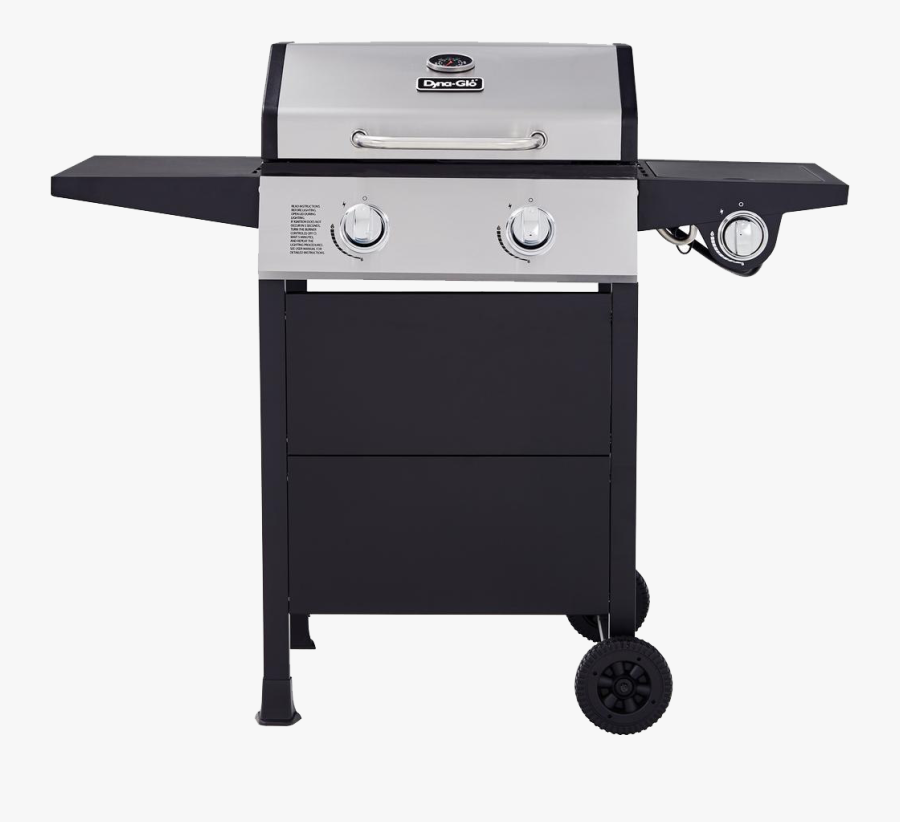 Grill Transparent Image - Dyna Glo 2 Burner Grill With Side Burner, Transparent Clipart