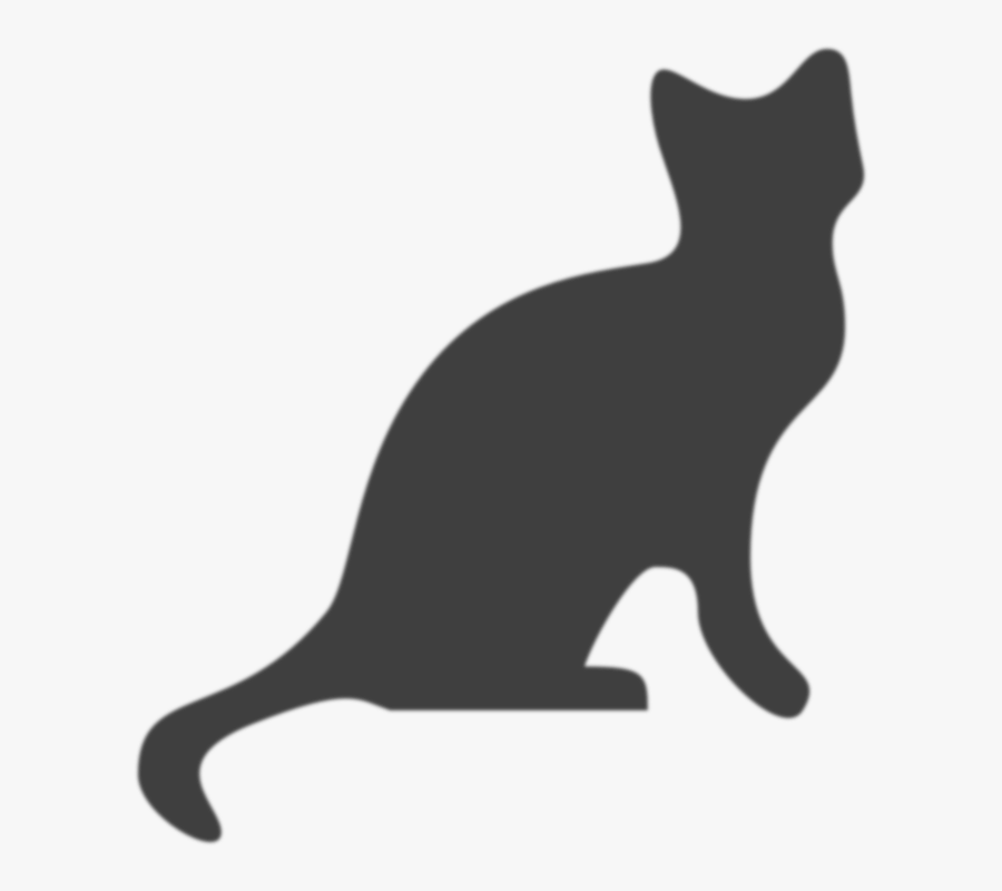 Cat Silhouette Red Png, Transparent Clipart