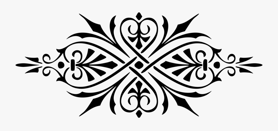 Art,symmetry,monochrome Photography - Ornament Png, Transparent Clipart