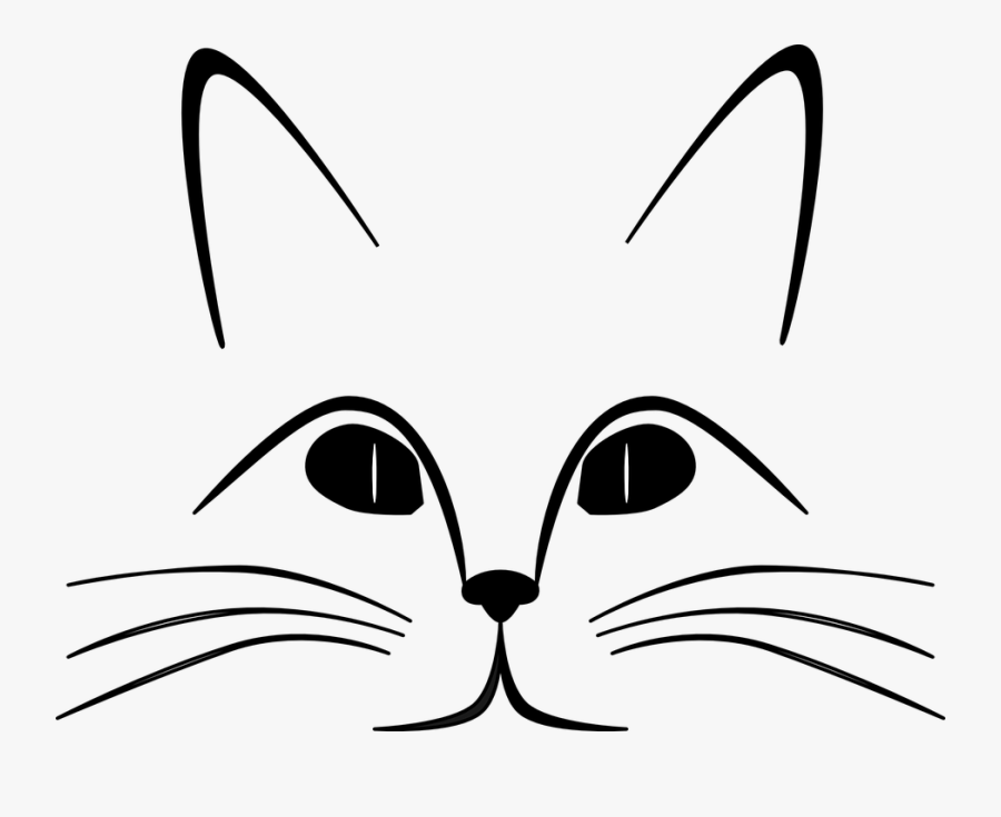 Transparent Cat Whiskers Png - Whisker Clipart Black And White, Transparent Clipart