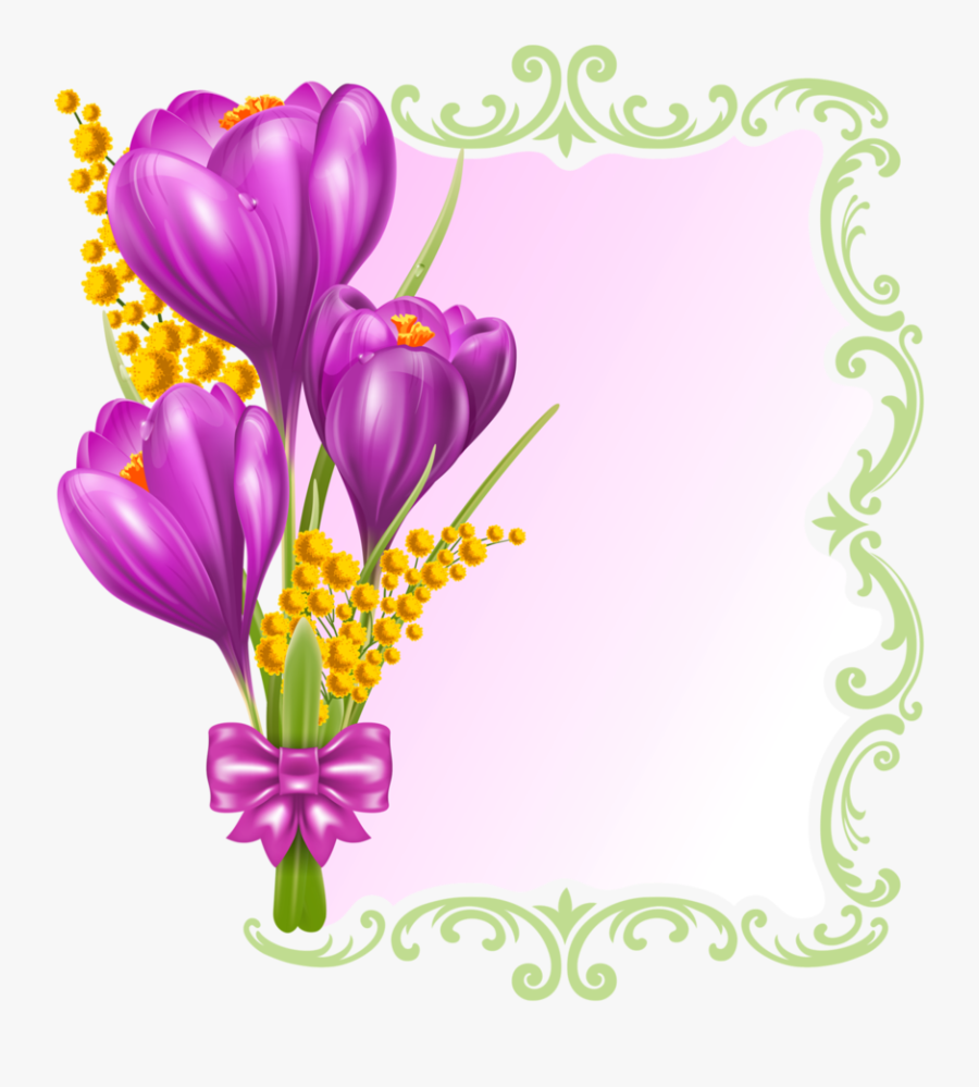 Flower Butterfly Border Design, Transparent Clipart