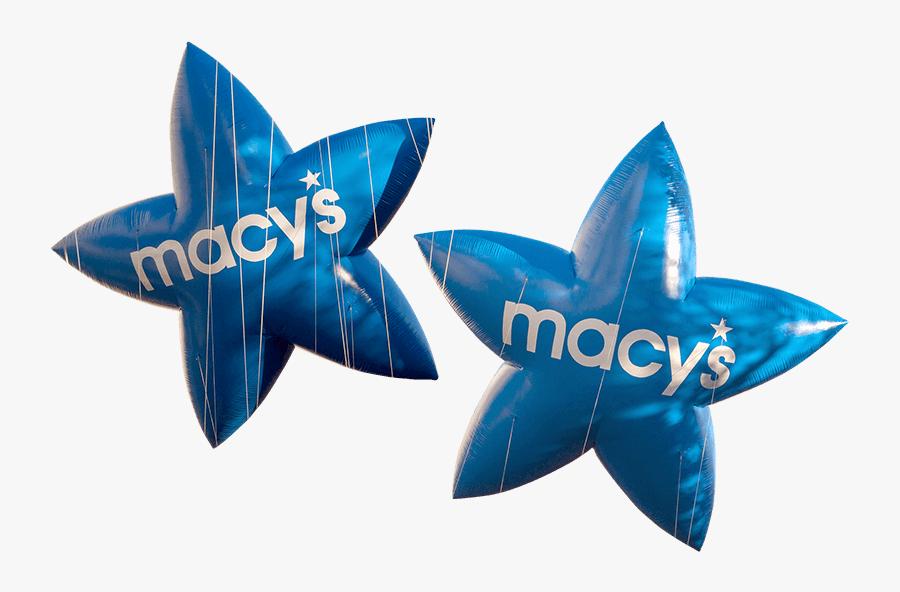 Blue Macys Stars, Transparent Clipart