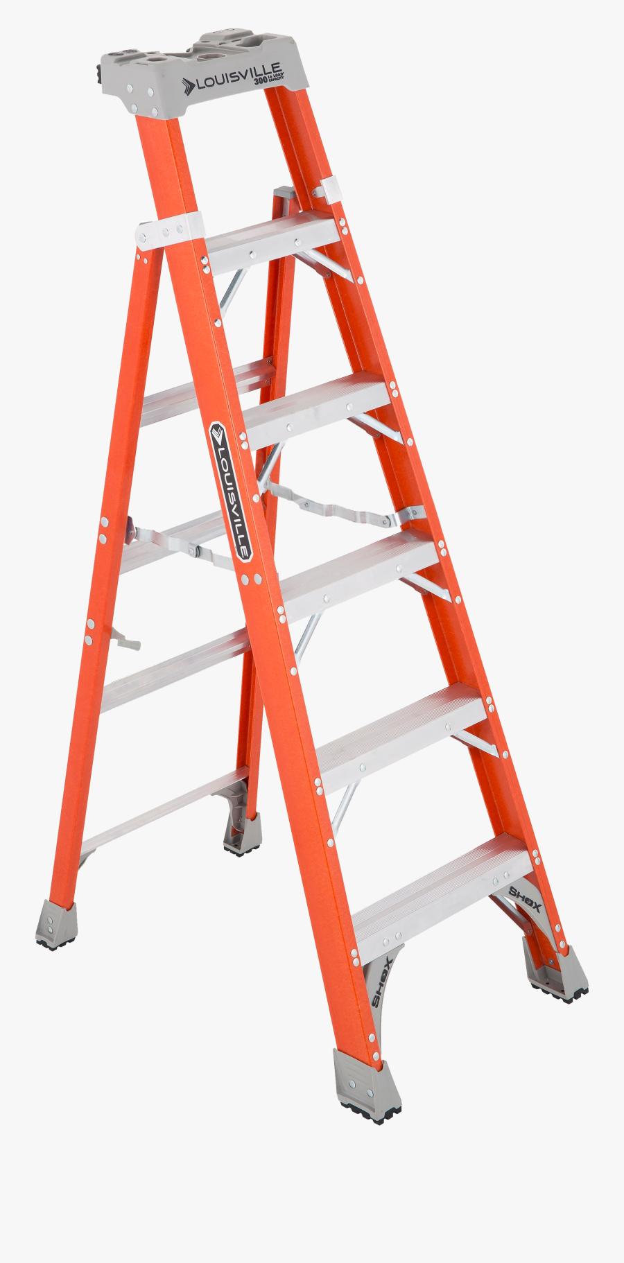Transparent Ladders Png - Louisville Cross Step Ladder, Transparent Clipart