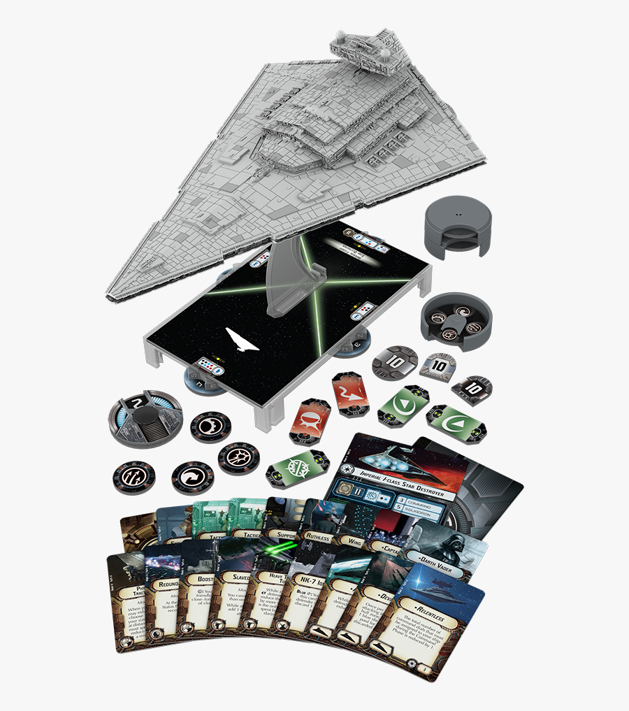 Clip Art Imperial Class Destroyer Expansion - Star Wars Armada Star Destroyer, Transparent Clipart