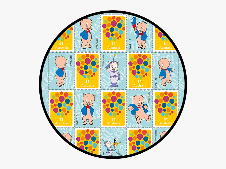 Porky Pig Stamps Pack Product Photo Internal 1 Details - Circle, Transparent Clipart