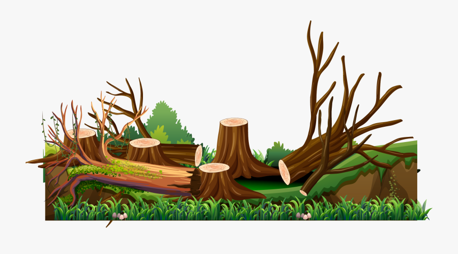 Hand Painted Cutting Transprent - Man Cutting Tree Vector, Transparent Clipart