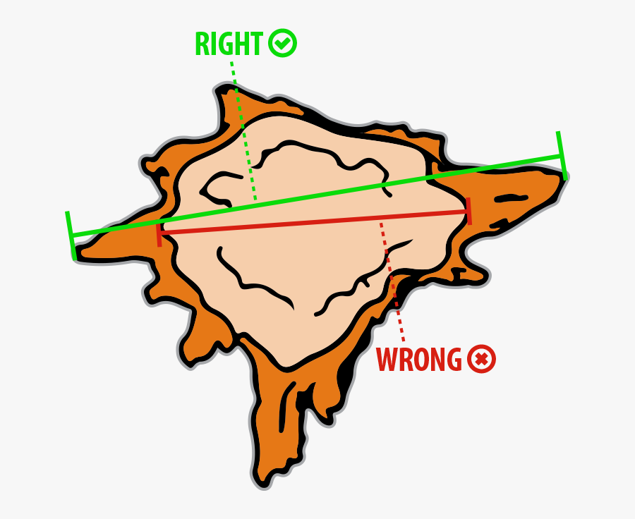 Measuring A Stump For Removal - Map, Transparent Clipart