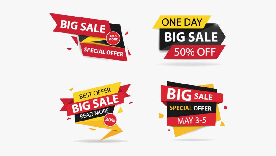 Big Sale Banner Vector Png, Transparent Clipart