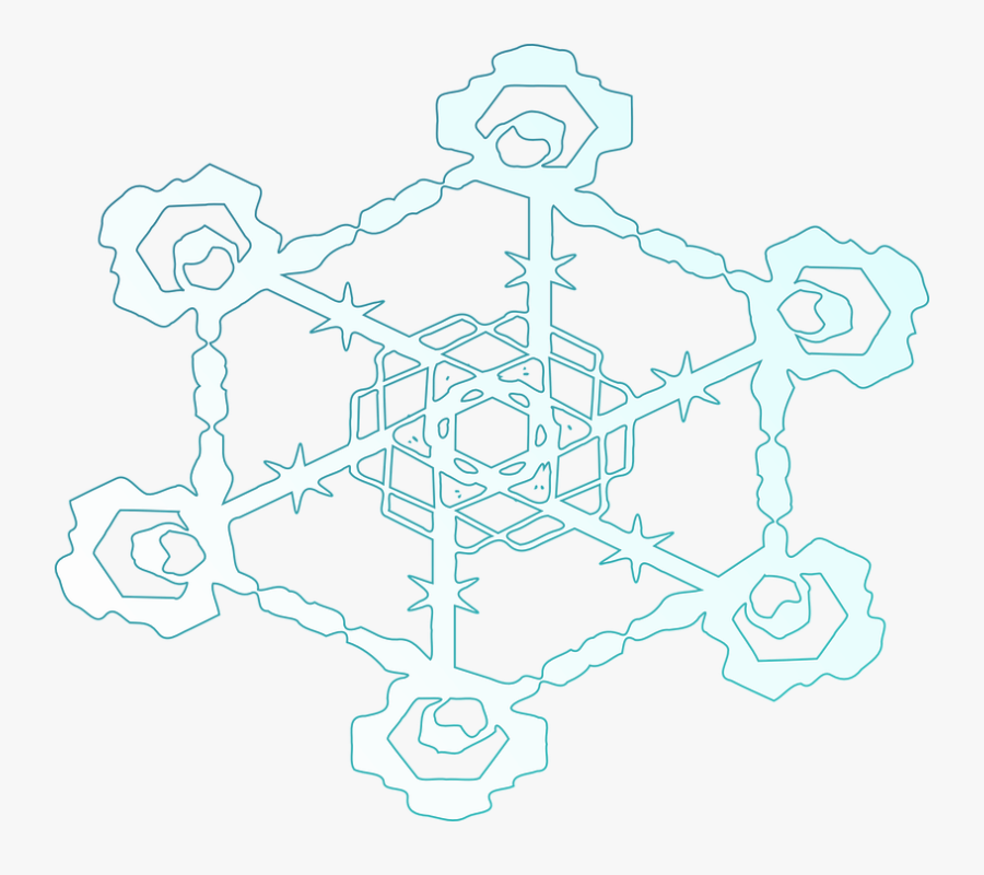 Transparent Ice Crystal Clipart - Snowflake, Transparent Clipart