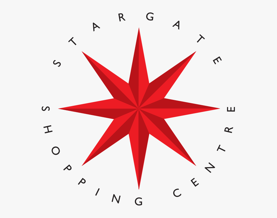 Welcome To Stargate Shopping Centres - Blue 8 Point Star, Transparent Clipart