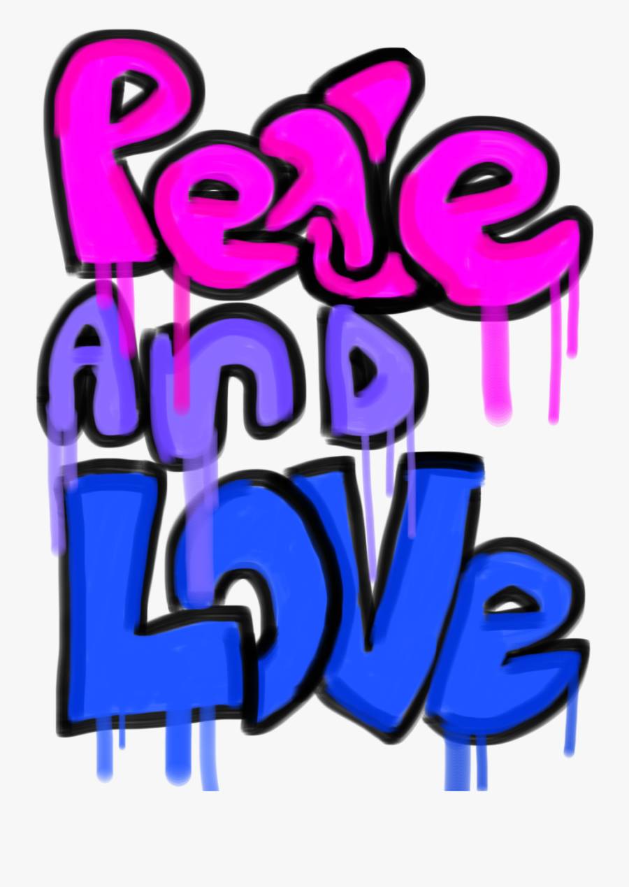 Peace And Love - Peace And Love Graffiti, Transparent Clipart