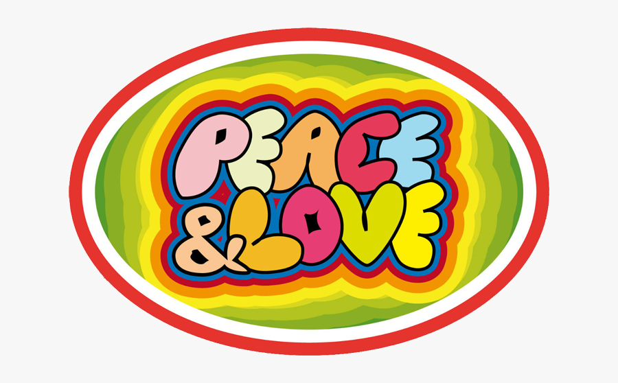 Peace And Love Oval, Transparent Clipart
