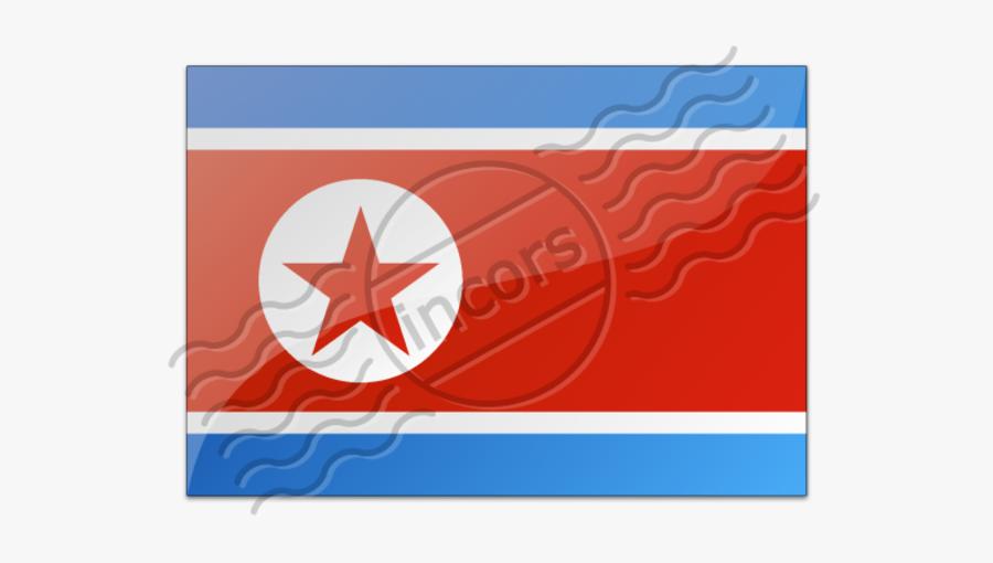 North Korea Flag, Transparent Clipart