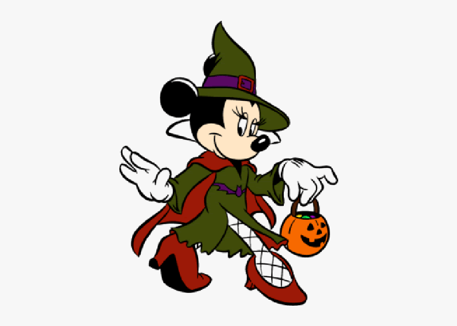 Disney Page Characters Mouse - Halloween Minnie Mouse Coloring Pages, Transparent Clipart