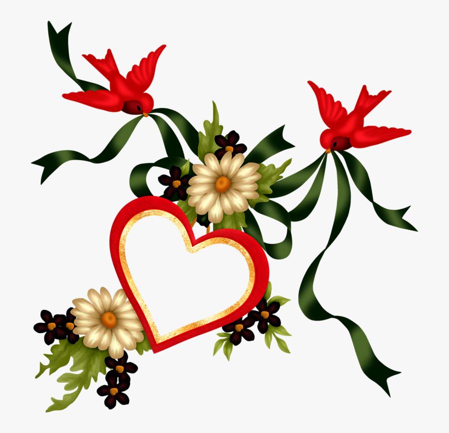 Image Du Blog Zezete2 - Fleur Et Coeur St Valentin, Transparent Clipart