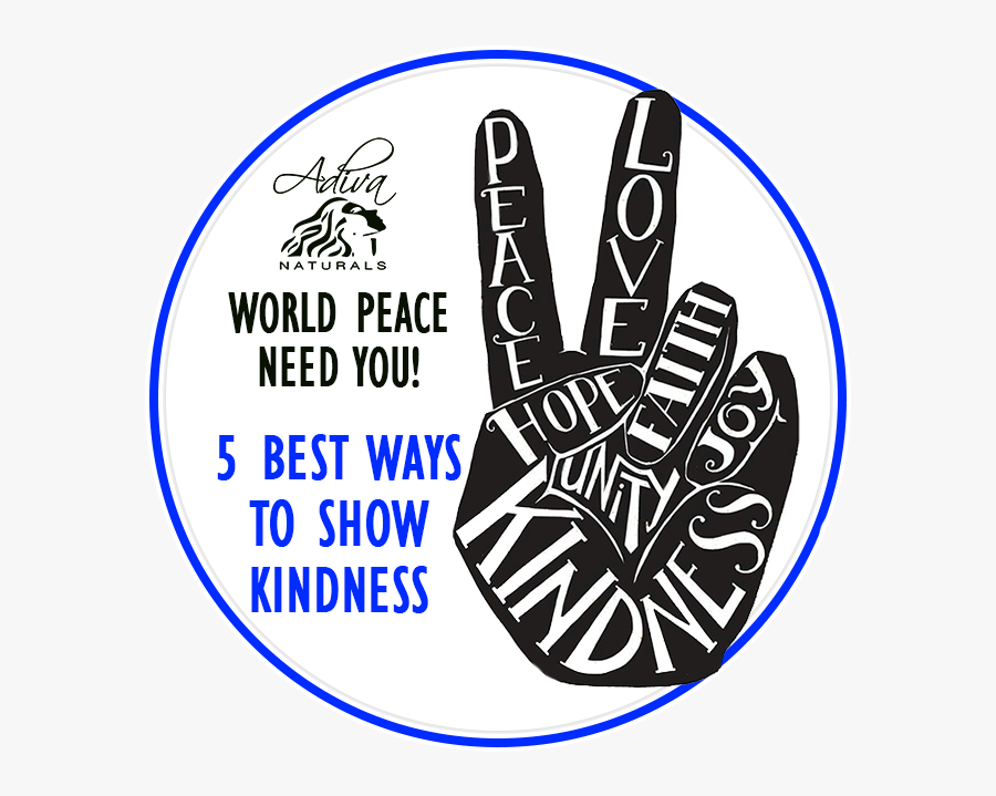 Peace Sign With Words Inside, Transparent Clipart