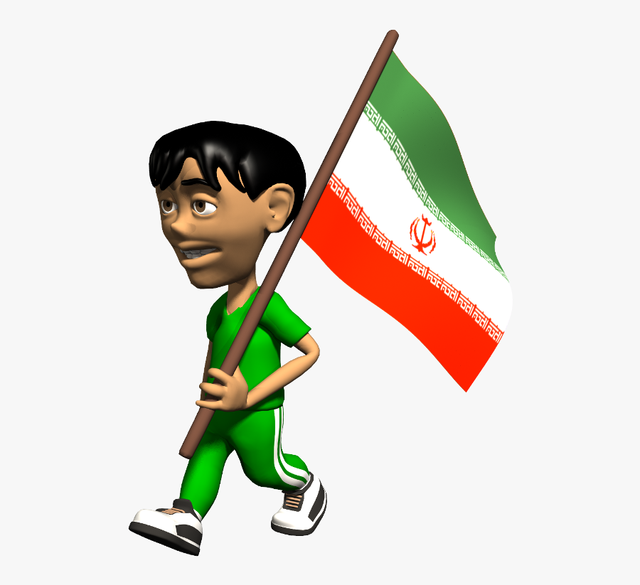 Iran Flag Image From Www - Flag Of Bangladesh Gif, Transparent Clipart