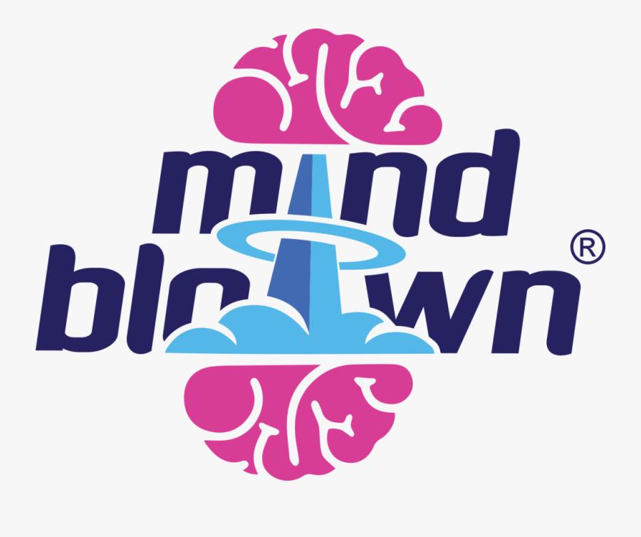 Mind Blown Logo For Light Backgrounds - Poster, Transparent Clipart