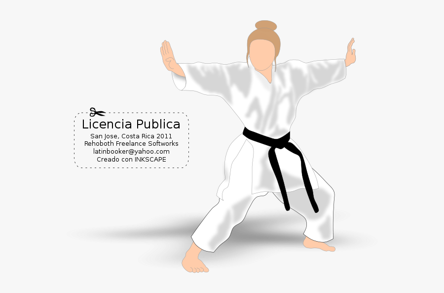 Chica Karateca - Karate, Transparent Clipart