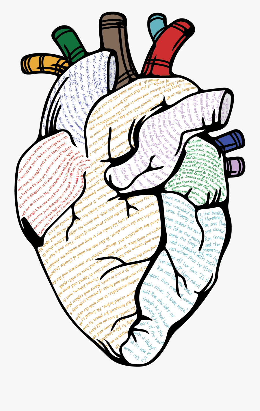 I Absolutely Fell In Love With It Clipart , Png Download - Human Heart Outline Png, Transparent Clipart