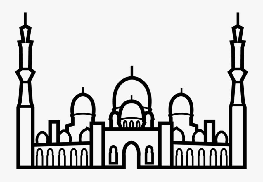 Abu Dhabi Mosque Clip Art, Transparent Clipart