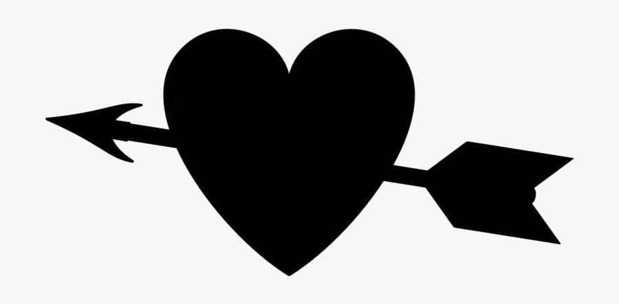 Arrow Through Heart Png Transparent Images - Heart, Transparent Clipart