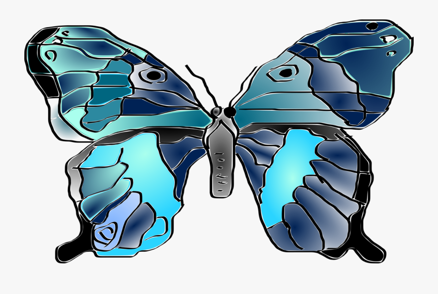 Butterfly,electric Blue,symmetry - Mariposa Butterfly, Transparent Clipart