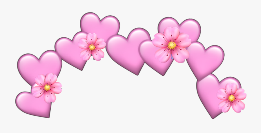 #flower #heart #pink #pastel #pinkpastel #pastelcolor - Yellow Heart Crown Png, Transparent Clipart