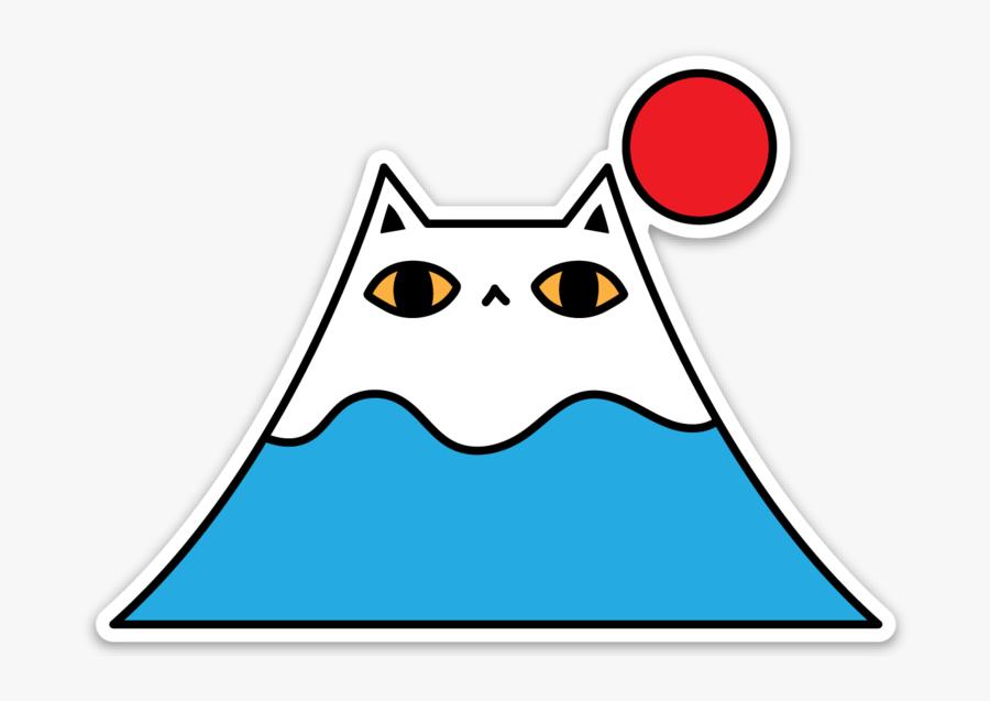 Mount Fuji Sticker, Transparent Clipart