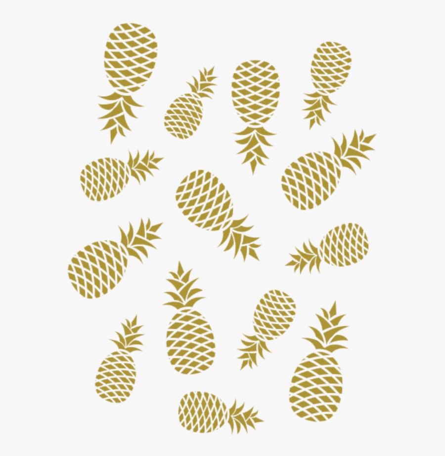 #ananas #gold #pineapple - Golden Pineapple Png, Transparent Clipart