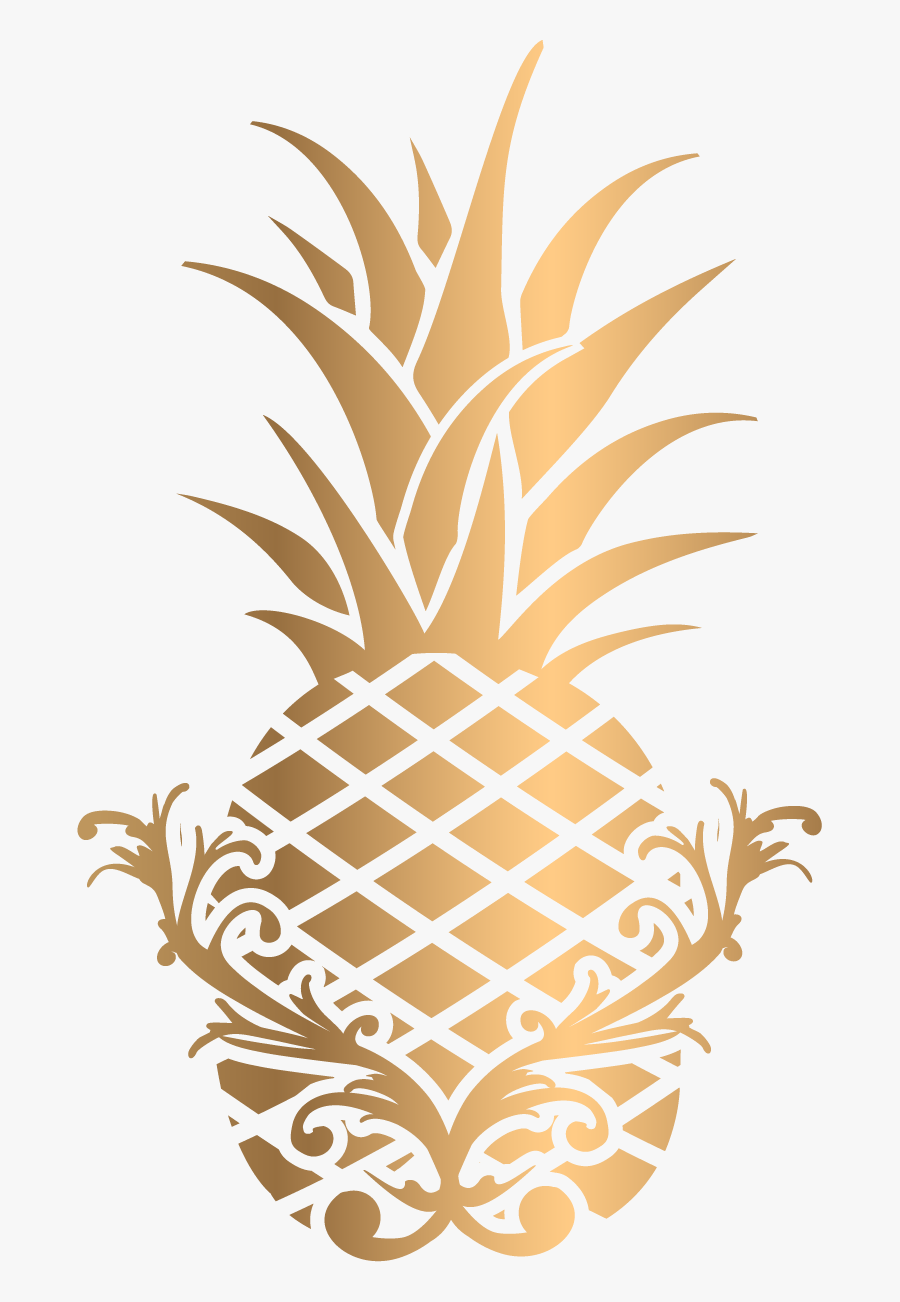 Transparent Gold Pineapple Clip , Png Download - Transparent Background Gold Pineapple, Transparent Clipart